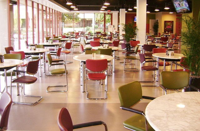stonblend gsi flooring in cafeteria